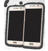Dwa telefony komórkowe