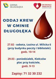 Oddaj krew w naszej gminie