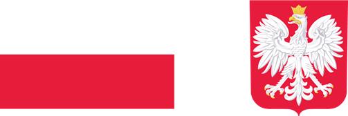 Logotypy: Flaga Rzeczpospolitej Polskiej; godło Polski