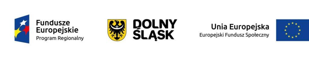 Zestawienie logotypów - od lewej Fundusze Europejskie Program Regionalny, Dolny Śląsk; Unia Europejska