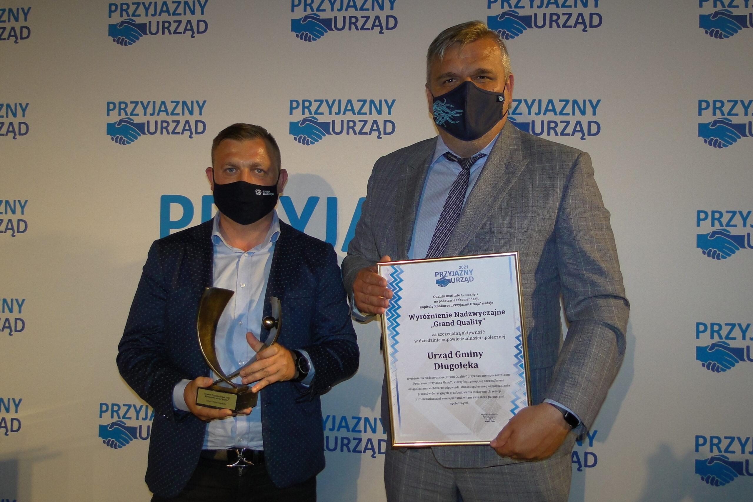 Przyjazny Urząd i Grand Quality dla gminy Długołęka