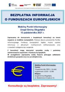 Bezpłatna informacja o funduszach europejskich