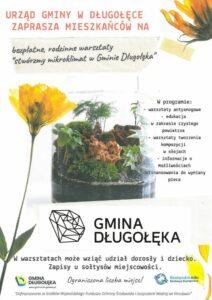 """Zapraszamy na warsztaty edukacji ekologicznej """"Tworzę mikroklimat w gminie Długołęka""""…"""